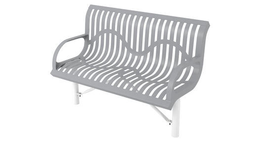 Picture of 4 ft. Classic Wingline In Ground Mount Bench w/ Back