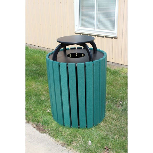 Picture of 49-gallon Round Plastic Receptacle with Cap