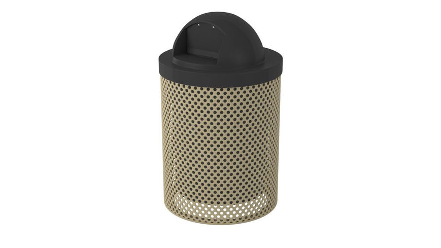 Picture of 32 Gallon Perforated Style Trash Receptacle