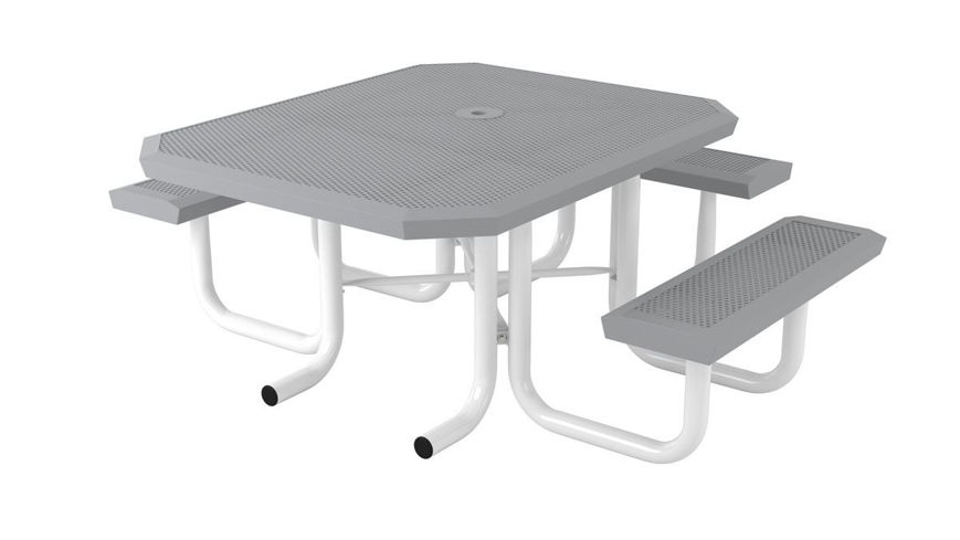 Picture of 46 in. Square Infinity Innovated Heavy Portable Table - 3 Seat ADA