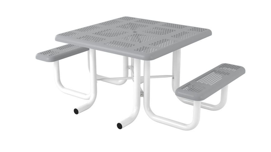 Picture of 46 in. Perforated Portable Heavy Table - 2 Seat