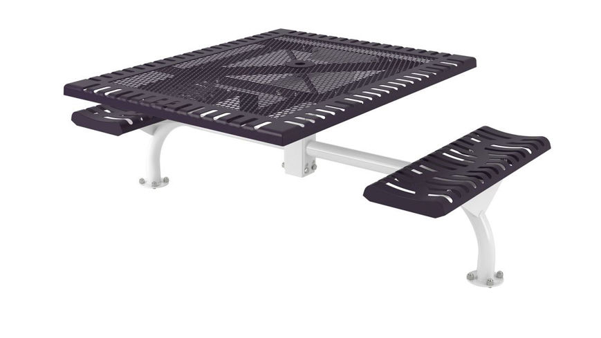 Picture of 46 in. Square Classic Web Table - 2 Seats Surface Mount ADA
