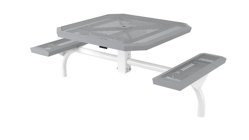Picture of 46 in. Octagonal Infinity Web In Ground Table - 2 Seat