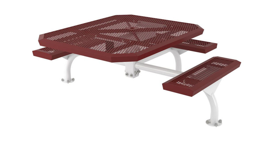 Picture of 46 in. Octagonal Infinity Web Surface Mount Table - 3 Seat ADA