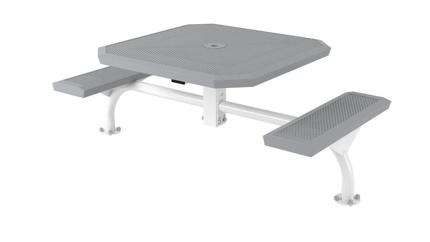 Picture of 46 in. Octagonal Infinity Innovated Web Table - 2 Seats Surface Mount