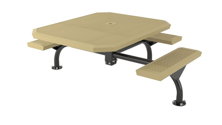Picture of 46 in. Octagonal Infinity Innovated Web Table -3 Seats Surface Mount ADA