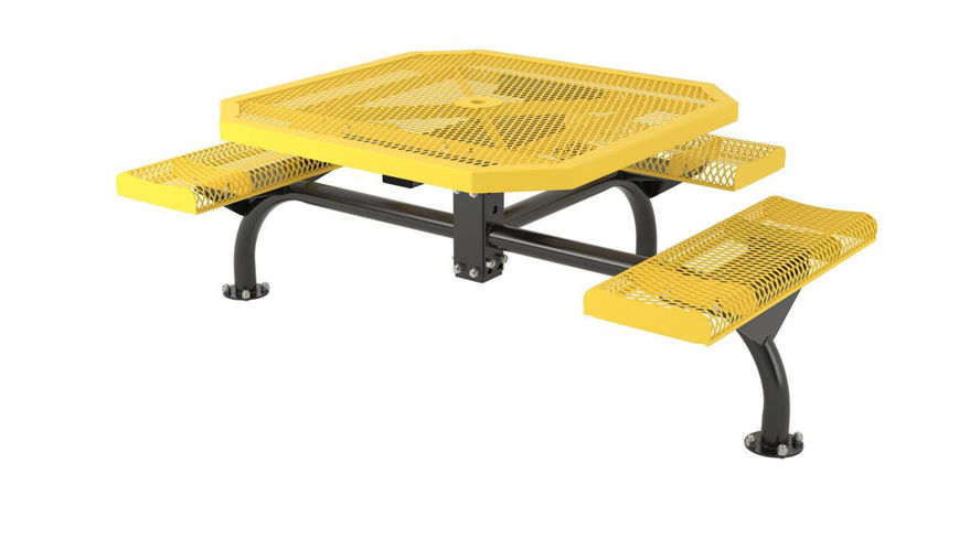 Picture of 46 in. Octagon Roll Web Table - 3 Seats Surface Mount