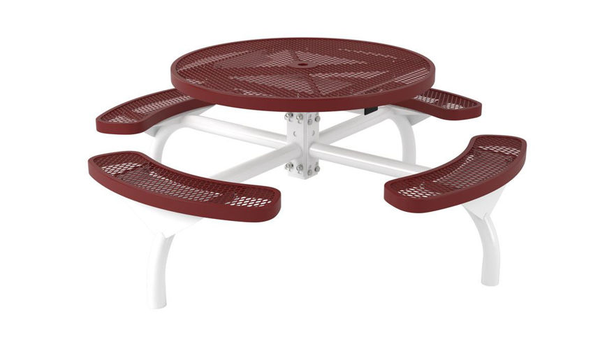 Picture of 46 in. Round Regal Web In Ground Mount Table