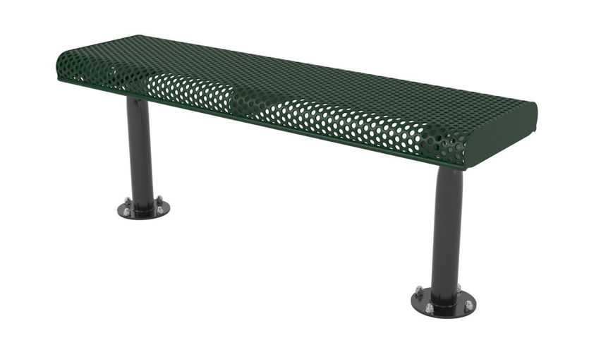 Picture of 4ft. Innovated Rolled Edge Style Bench Surface Mount