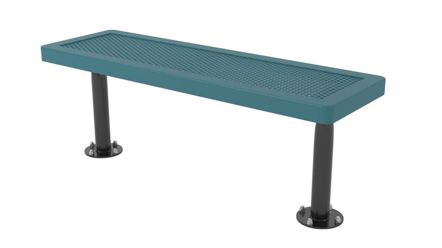 Picture of 4ft. Player Bench Innovated Surface Mount