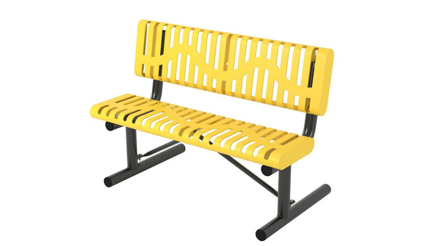 Picture of 4ft. Classic Style Rolled Edge Bench Portable