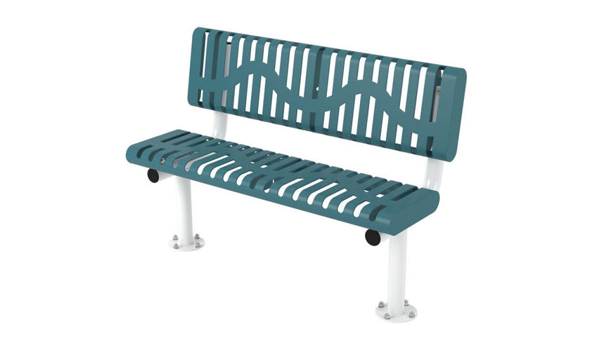 Picture of 4ft. Classic Style Rolled Edge Bench In Ground