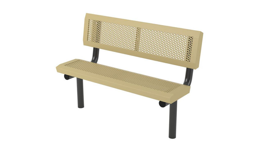 Picture of 4ft Infinity Innovated Style Bench with Back In Ground Mount