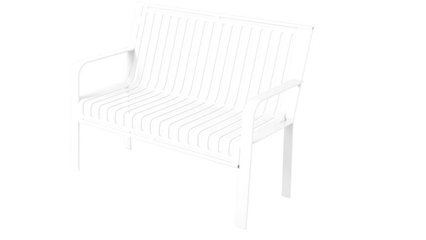 Picture of 4ft. metro Style Bench with Back Surface Mount