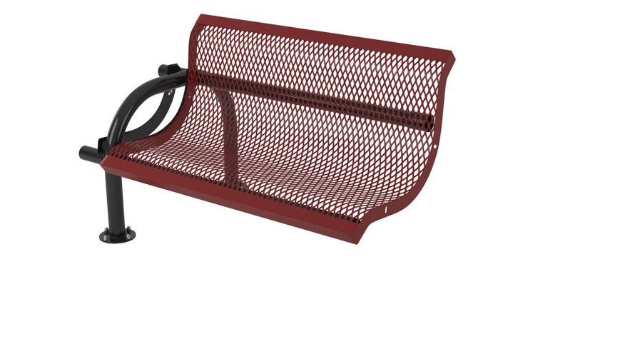 Picture of 4 ft. Modern Portable/Surface Mount Add on Bench w/ Back