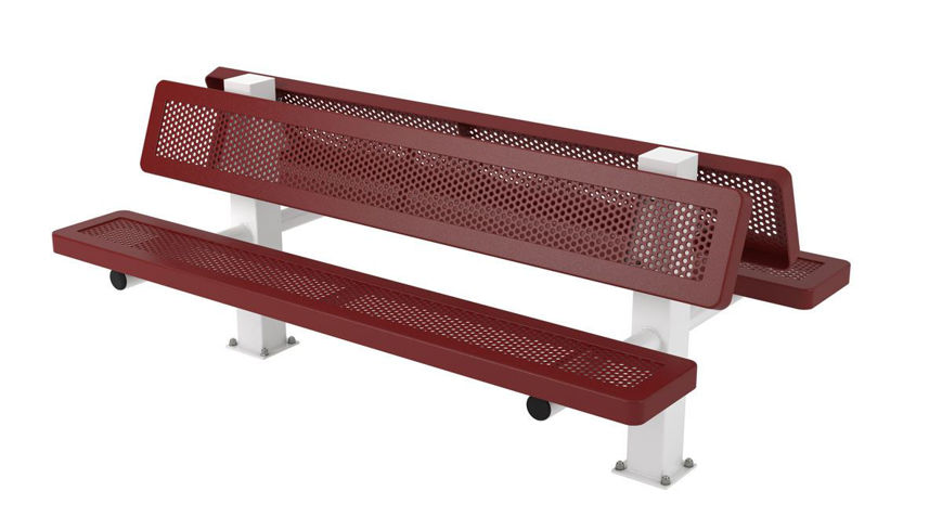 Picture of 6 ft. Innovated Style Bench - 4 Seats Surface Mount