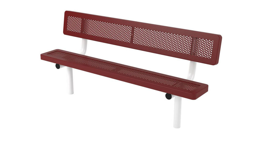 Picture of 6ft. Innovated Style Bench with back In Ground Design