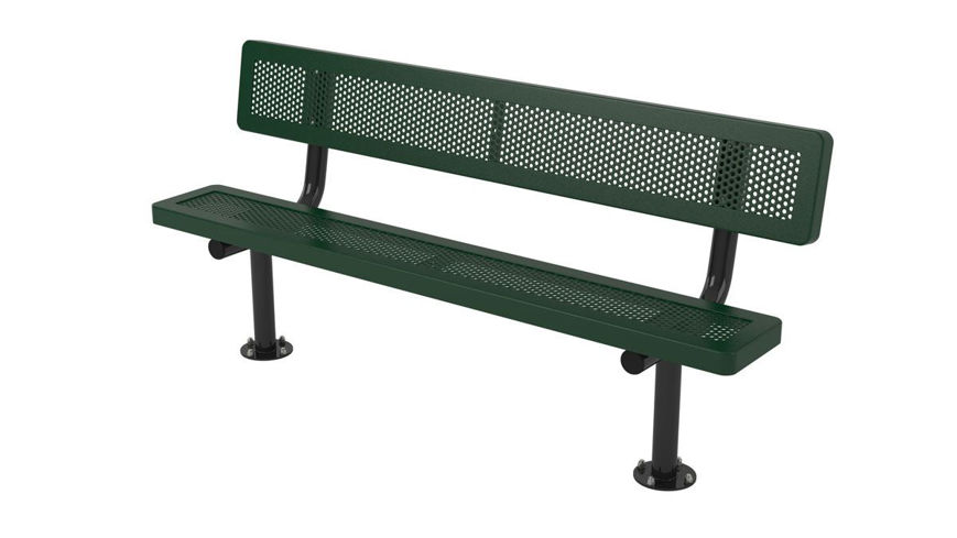 Picture of 6ft. Innovated Style Bench with Back Surface Mount