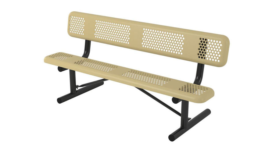 Picture of 6 ft. Perforated Portable Bench w/ Back