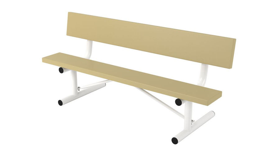 Picture of 6 ft. Plasti Plank Portable Bench w/ Back