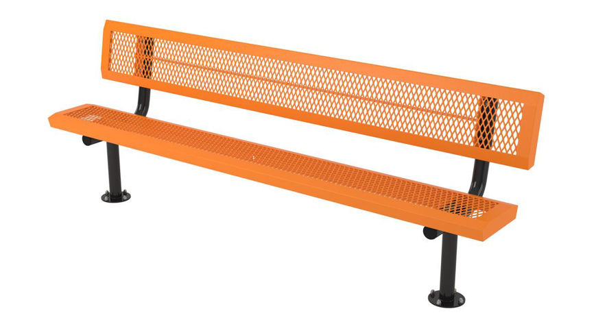 Picture of 8ft. Infinity Style Innovated Bench with Back Surface Mount