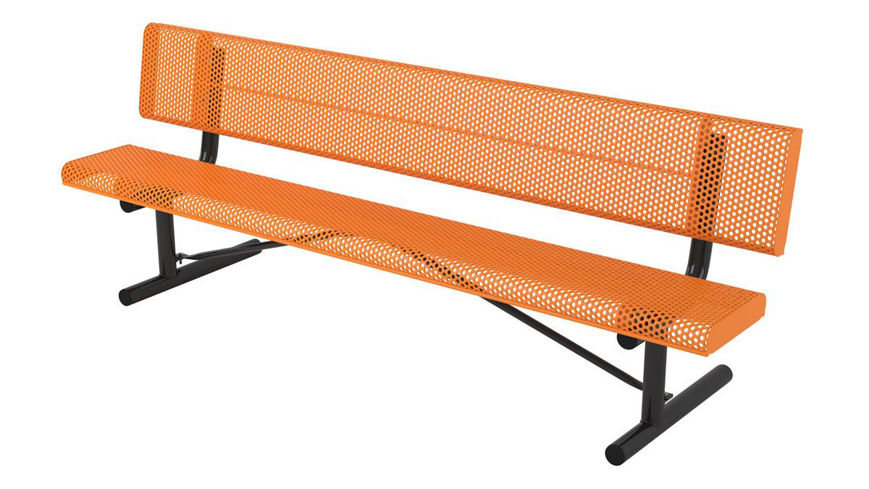 Picture of 8ft. Innovated Rolled Edge Style Bench with Back Portable