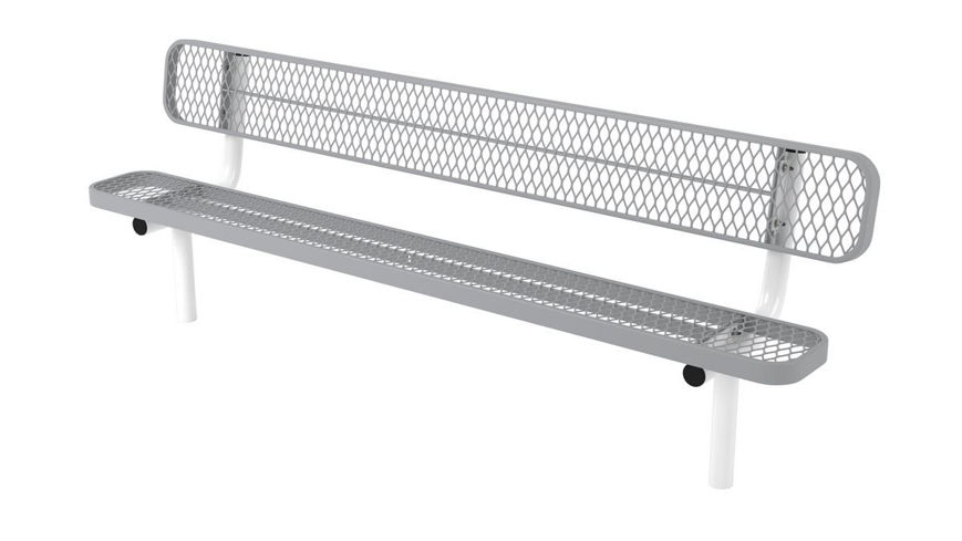 Picture of 8ft. L Series Style Bench with Back In Ground Mount