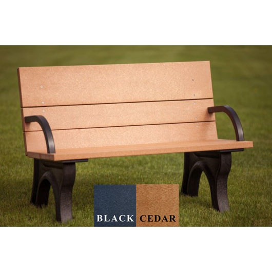 Picture of ADA Compliant Traditional 4' Backed Plastic Bench