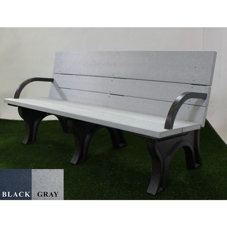 Picture of ADA Compliant Traditional 6' Backed Plastic Bench