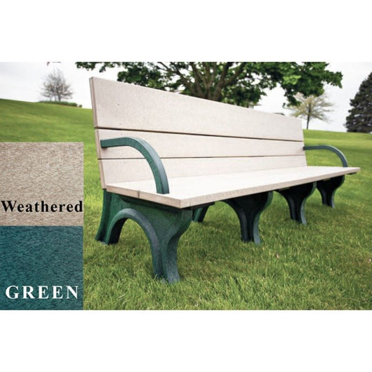 Picture of ADA Compliant Traditional 8' Backed Plastic Bench