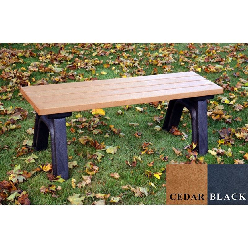 Picture of Deluxe 4' Flat Plastic Bench
