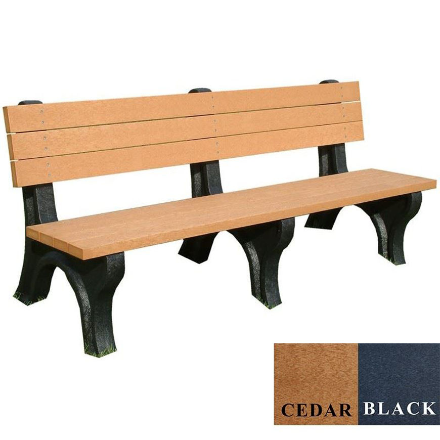 Picture of Deluxe 6' Backed Plastic Bench