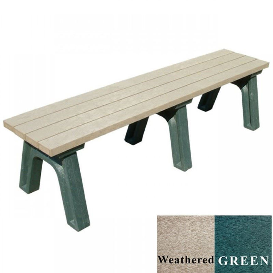 Picture of Deluxe 6' Flat Plastic Bench