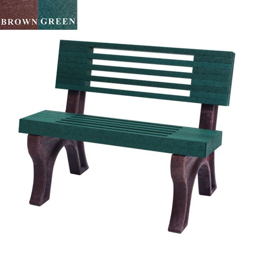 Picture of Elite 4' Backed Plastic Bench
