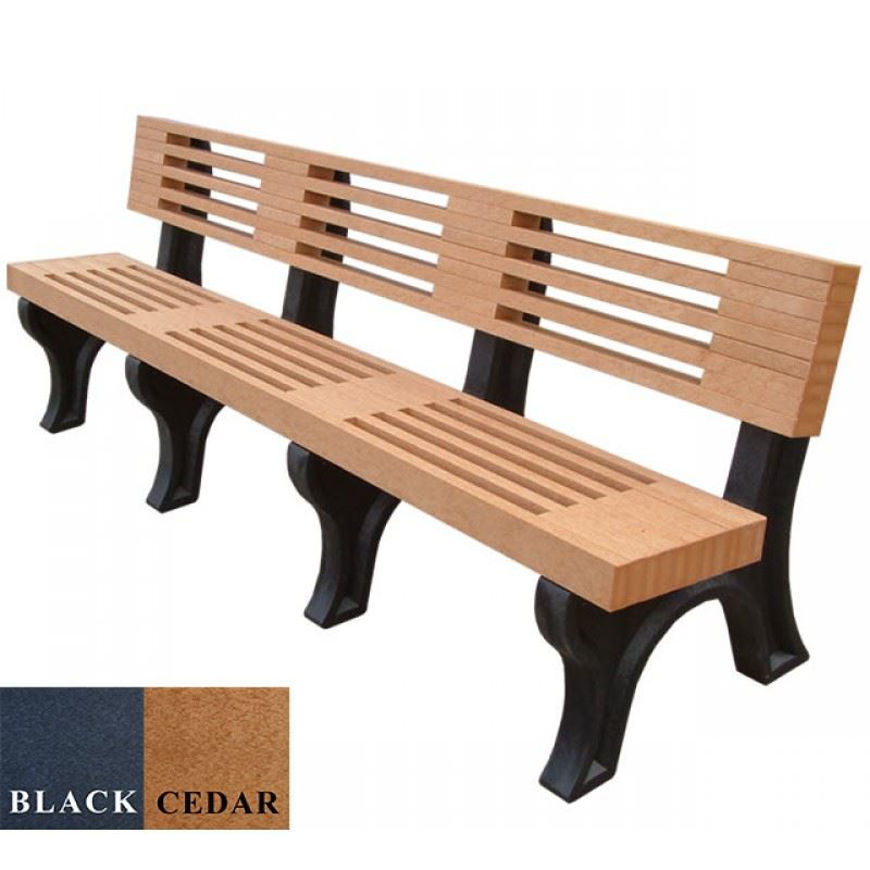 Picture of Elite 8' Backed Plastic Plastic Bench