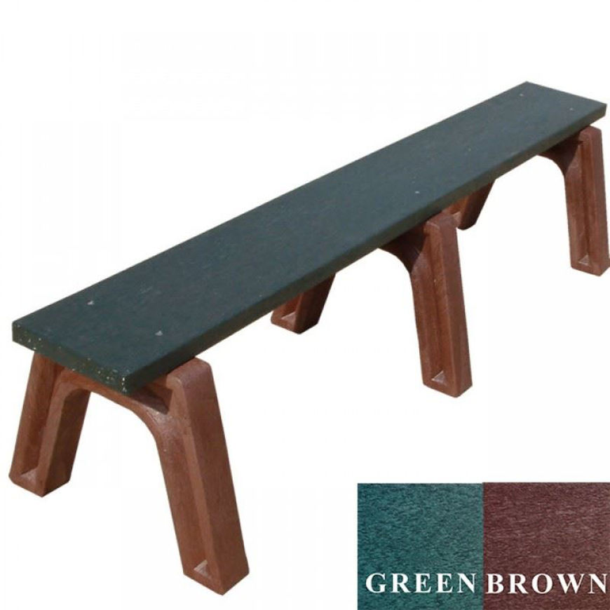 Picture of Landmark 6' Flat Plastic Bench