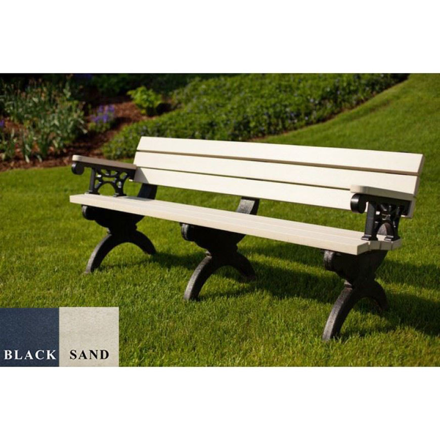 Picture of Monarque 6' Backed Plastic Bench With arms