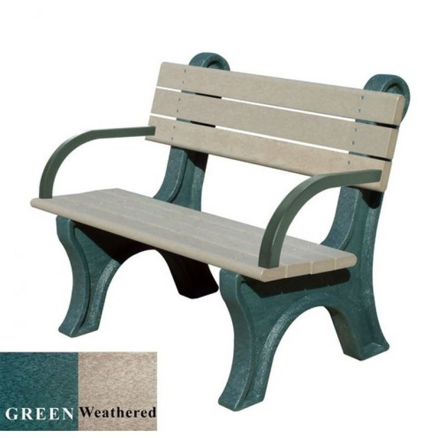 Picture of Park Classic 4' Plastic Bench with arms