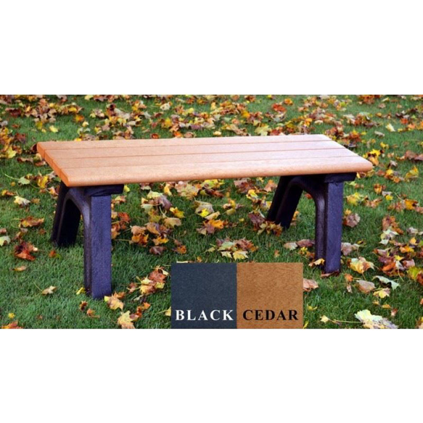 Picture of Park Classic 4' Flat  Plastic Bench