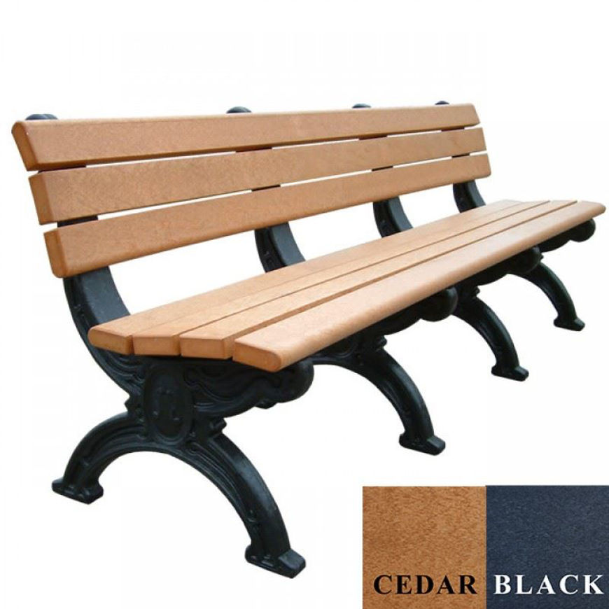 Picture of Silhouette 8' Backed Plastic Bench