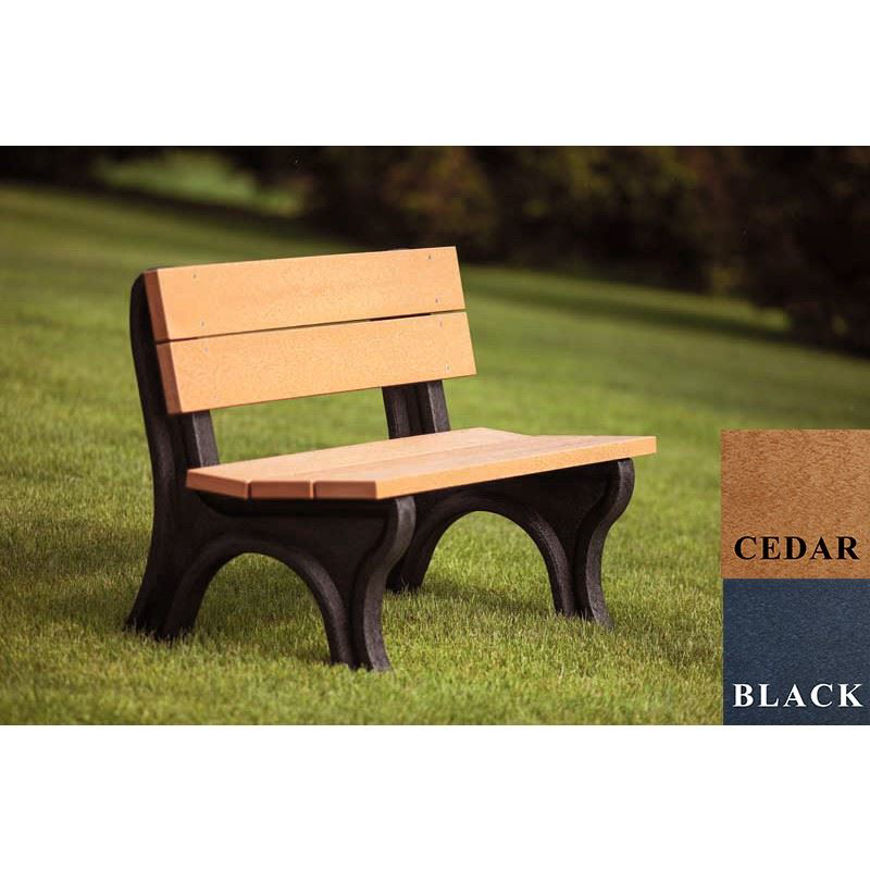 Picture of Traditional 4' Backed Plastic Bench