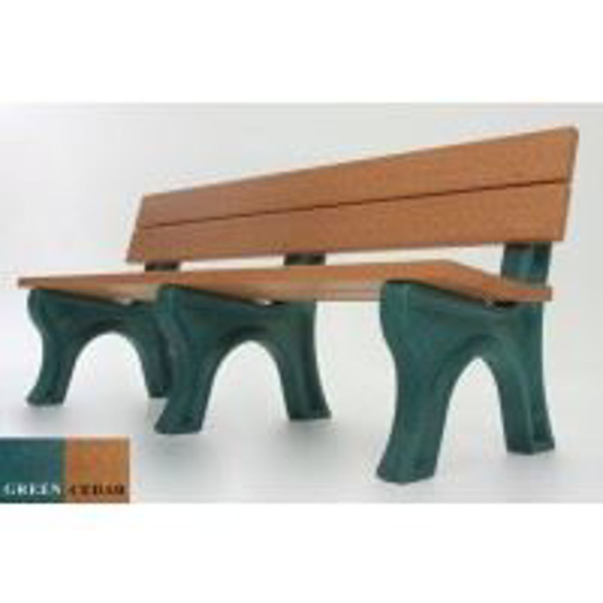 Picture of Traditional 6' Backed Plastic Bench