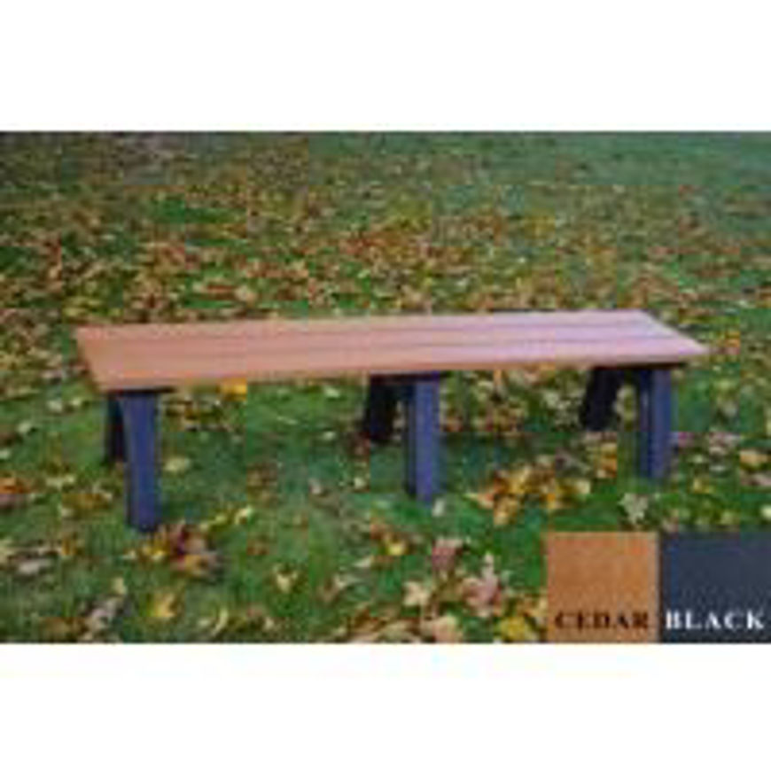 Picture of Traditional 6' Flat Plastic Bench
