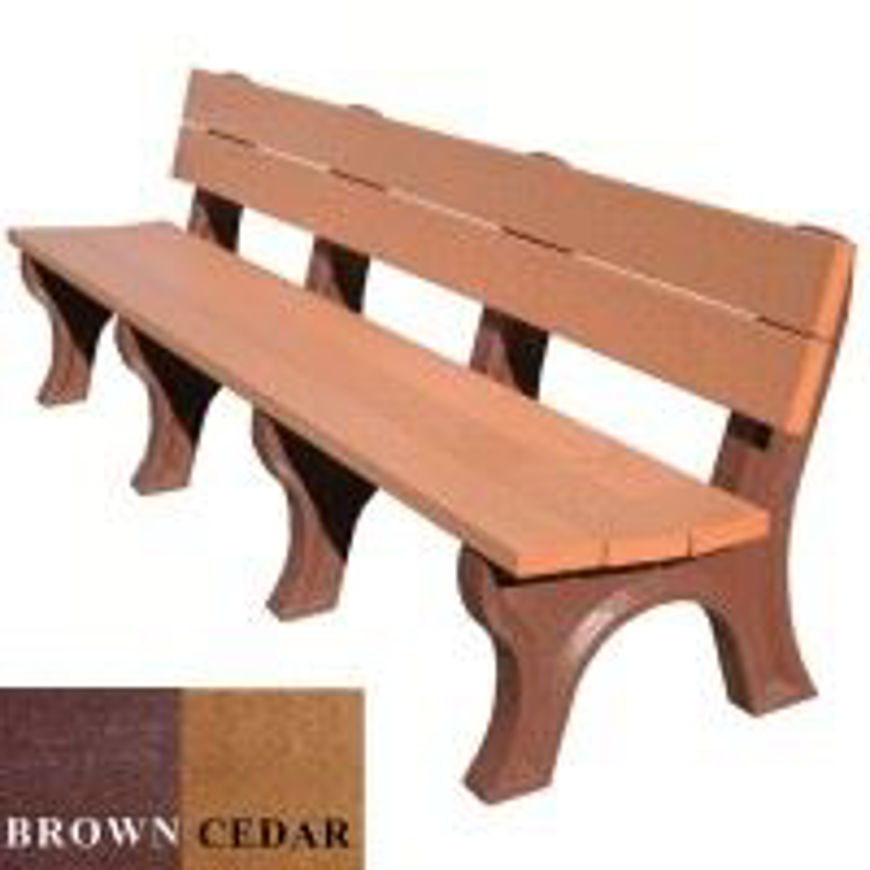 Picture of Traditional 8' Backed Plastic Bench
