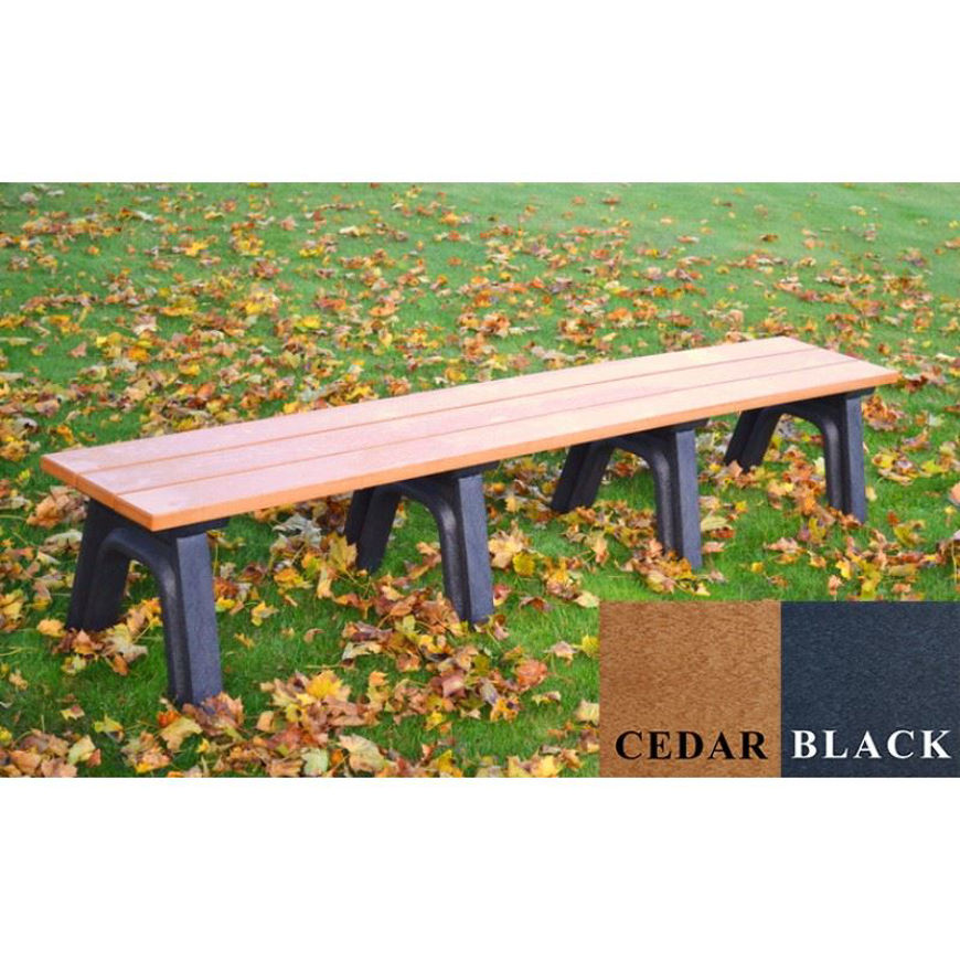 Picture of Traditional 8' Flat Plastic Bench