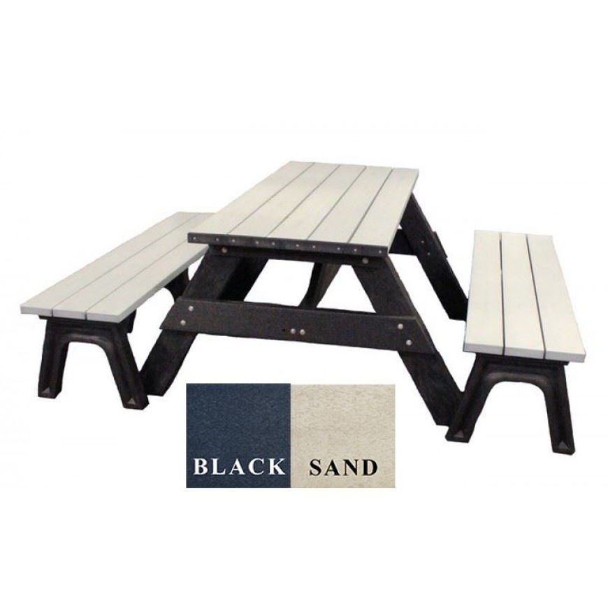 Picture of Deluxe 6' Picnic Table with Plastic Bench Seating