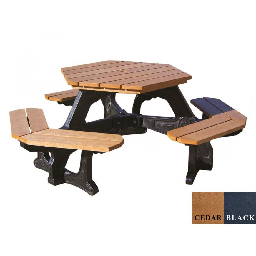 Picture of Plaza Hex Table | Hexagon Picnic Plastic Table
