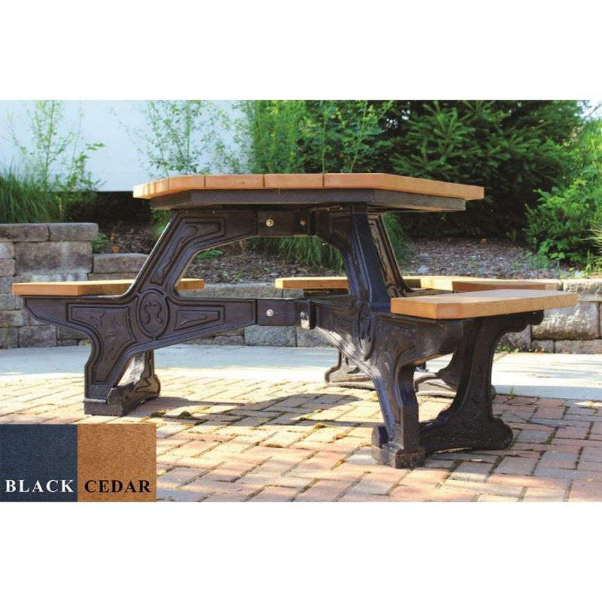 Picture of Plaza Wheelchair Accessible Picnic Plastic Table
