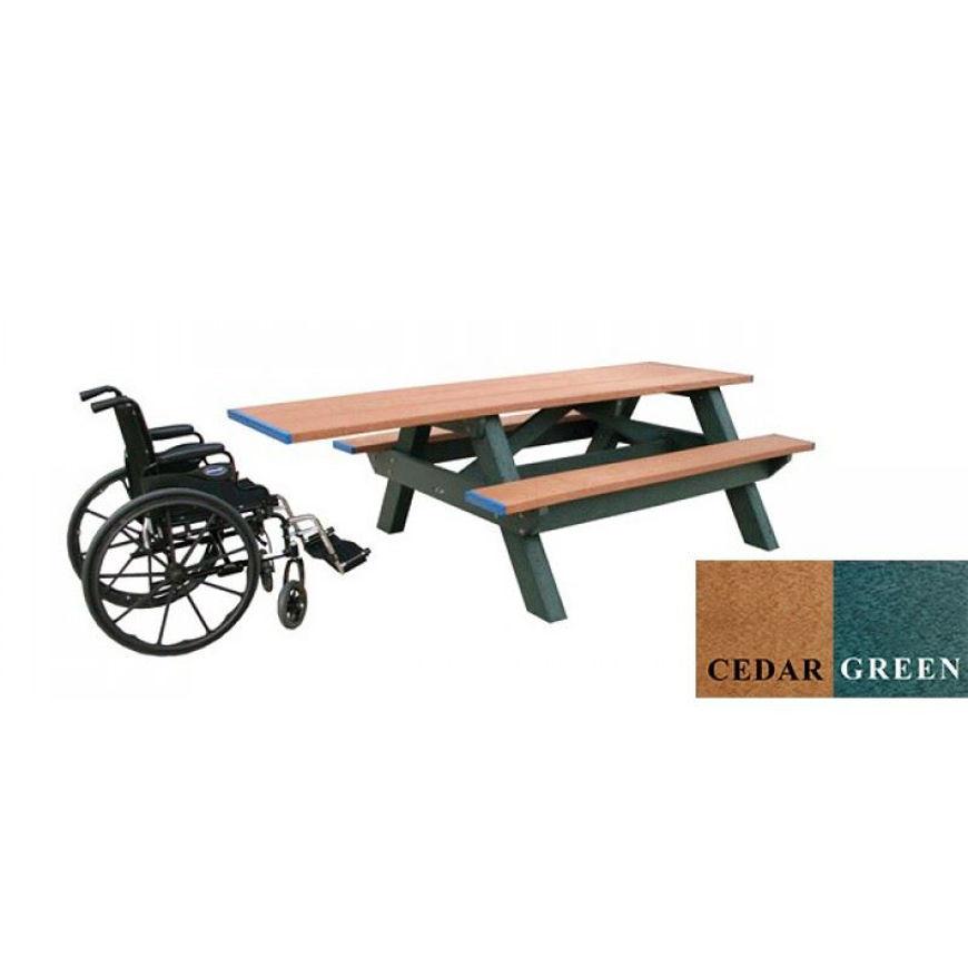 Picture of Standard Handicap Access Picnic Plastic Table
