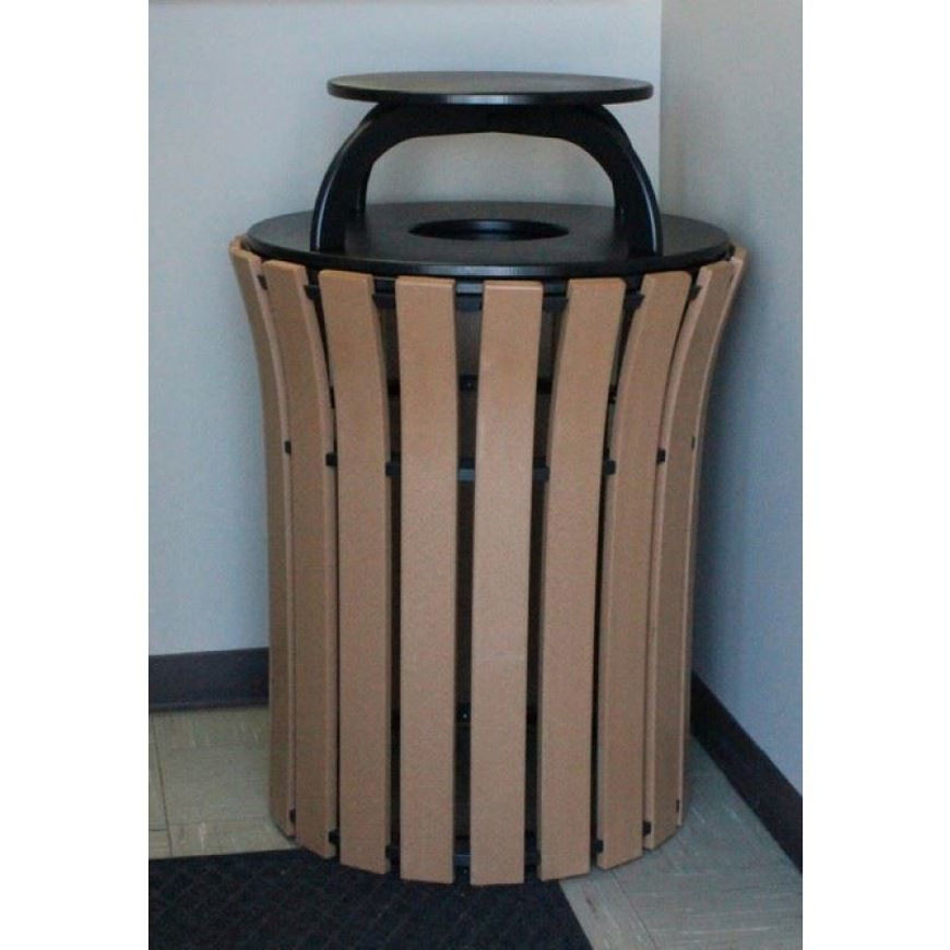 Picture of Flare Top 33-gallon Plastic Receptacle with Rain Cap